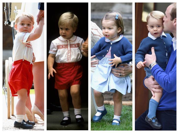 Фото №1 - Общий гардероб: 10 раз, когда Джордж, Шарлотта и Луи носили одежду друг друга