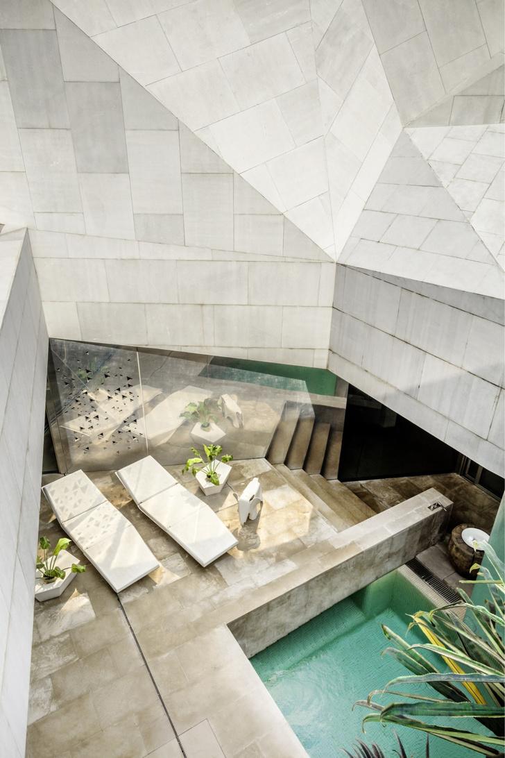 Фото №3 - Необычный дом-оригами в Кувейте: проект студии AGi Architects
