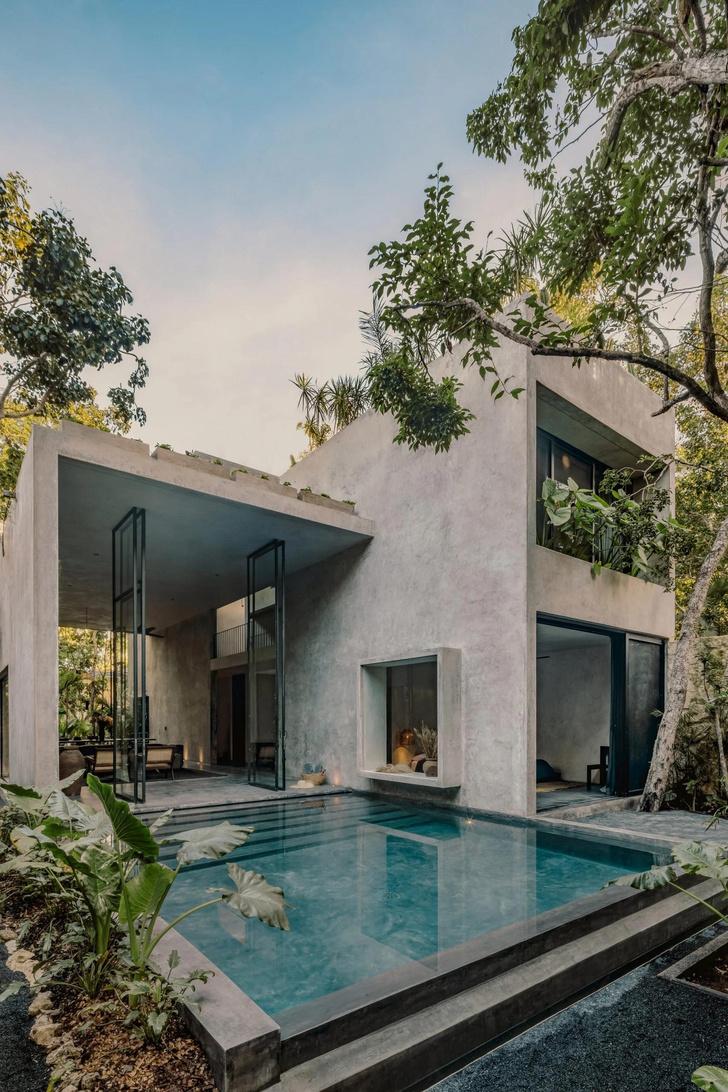Фото №11 - Бруталистская бетонная вилла в джунглях Тулума
