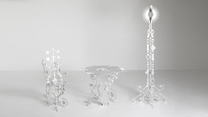 Фото №1 - Ornamentum: коллекция ажурной мебели из алюминия
