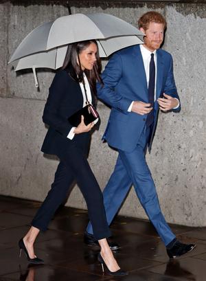 Фото №5 - Их модные Высочества: лучшие парные образы Меган и Гарри