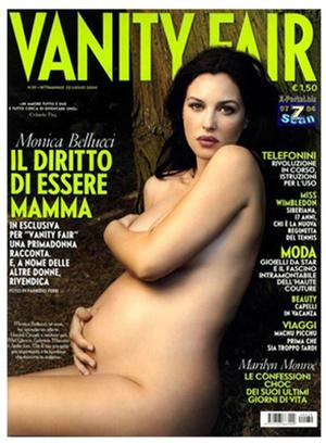 беременные звезды на обложках глянца Моника Беллуччи