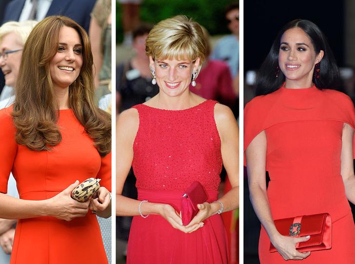 Фото №1 - Подражая Диане: культовые образы принцессы Уэльской, которые повторили Кейт и Меган