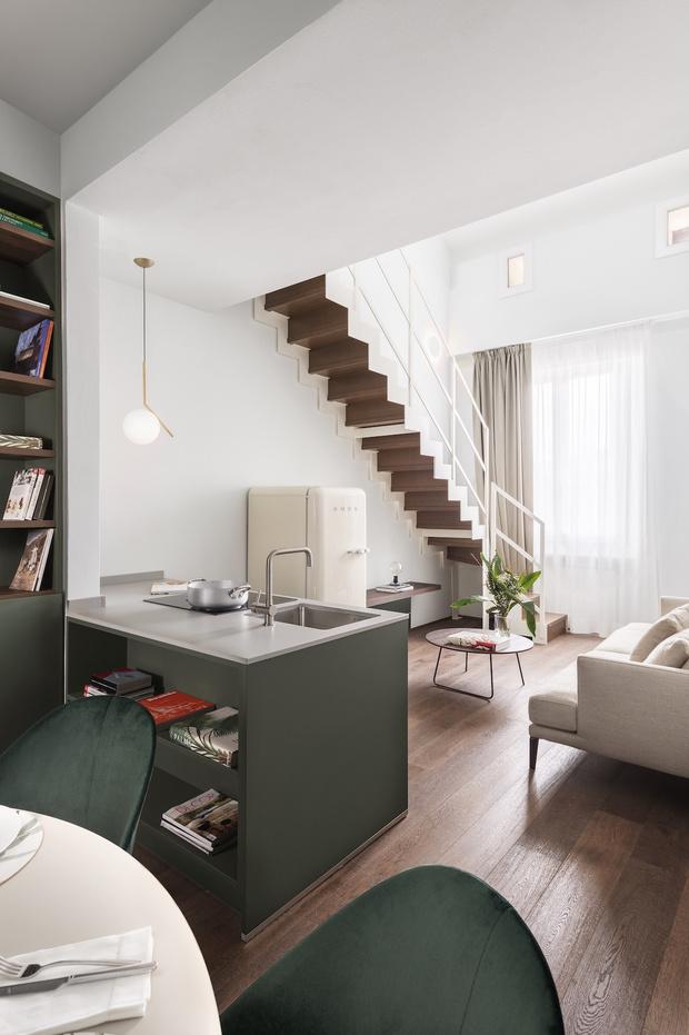 Фото №3 - Современная двухуровневая квартира во Флоренции