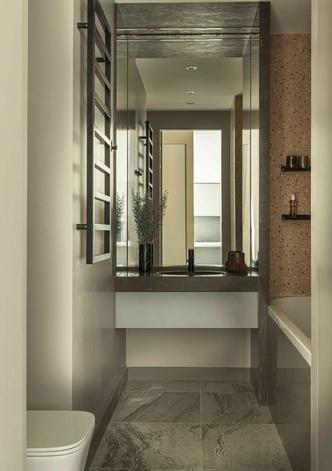 Фото №11 - Минималистичный интерьер в теплых тонах для двухкомнатной квартиры