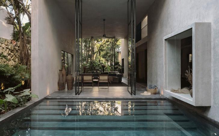Фото №7 - Бруталистская бетонная вилла в джунглях Тулума
