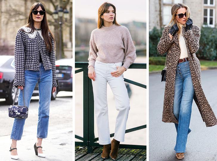 Фото №1 - С чем носить базовые прямые джинсы: модные идеи на любой случай