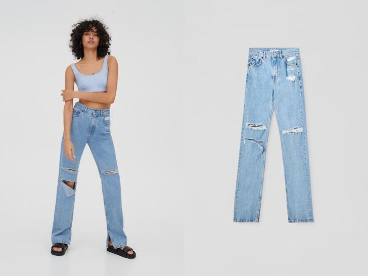 Фото №6 - Голубые джинсы— самая главная покупка лета. Рассказываем, на какие модели обратить внимание