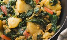 Картофель со шпинатом по-индийски
