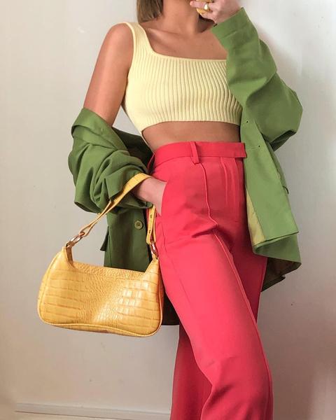 Фото №4 - Как носить color blocking зимой 2021: вдохновляемся луками fashion-инфлюенсеров
