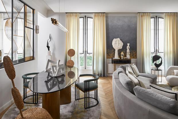 Фото №3 - Квартира с элементами нового ар-деко в Париже