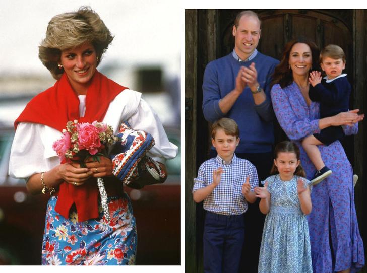 Фото №1 - Как Диана «влияет» на воспитание Джорджа, Шарлотты и Луи Кембриджских