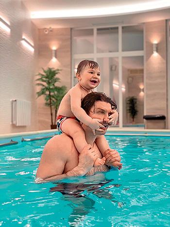Эдгард с сыном Даниэлем