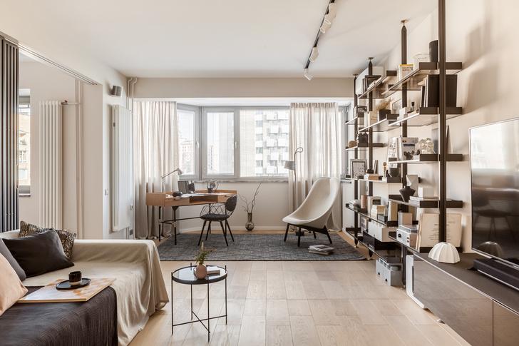 Фото №1 - Светлая квартира 64 м² с золотыми акцентами