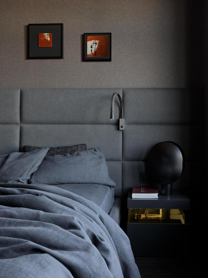 Фото №12 - Квартира в темных оттенках с видом на Москву