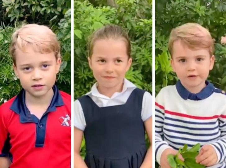 Фото №1 - «Такие взрослые!»: первое сольное видео Джорджа, Шарлотты и Луи стало вирусным