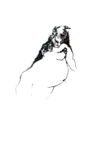 <p>«Автопортрет», масляный карандаш на бумаге, 2020.</p>