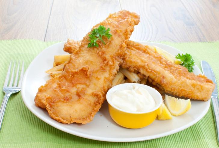 Жаренная рыба в кляре