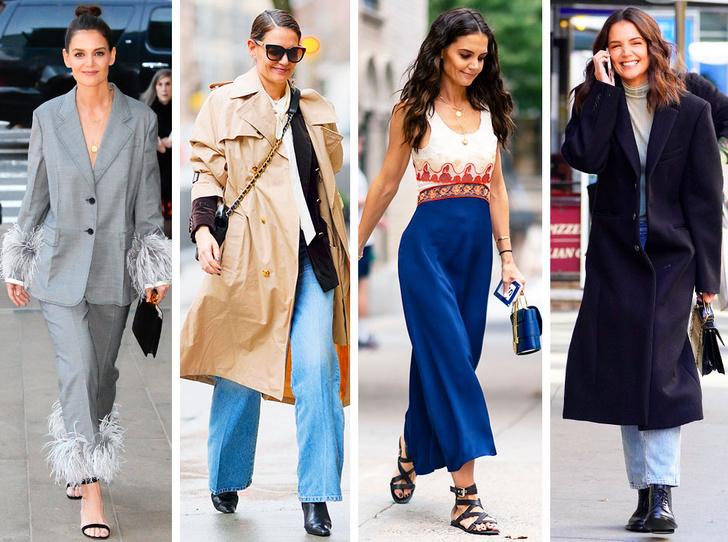 Фото №1 - Самая модная в Нью-Йорке: как одевается Кэти Холмс (и почему ее образы все повторяют)