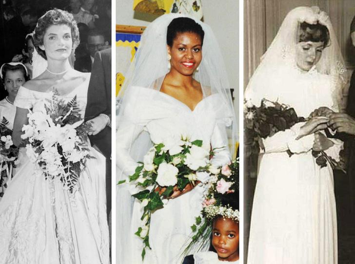 Фото №1 - От Жаклин Кеннеди до Людмилы Путиной: в чем выходили замуж Первые леди
