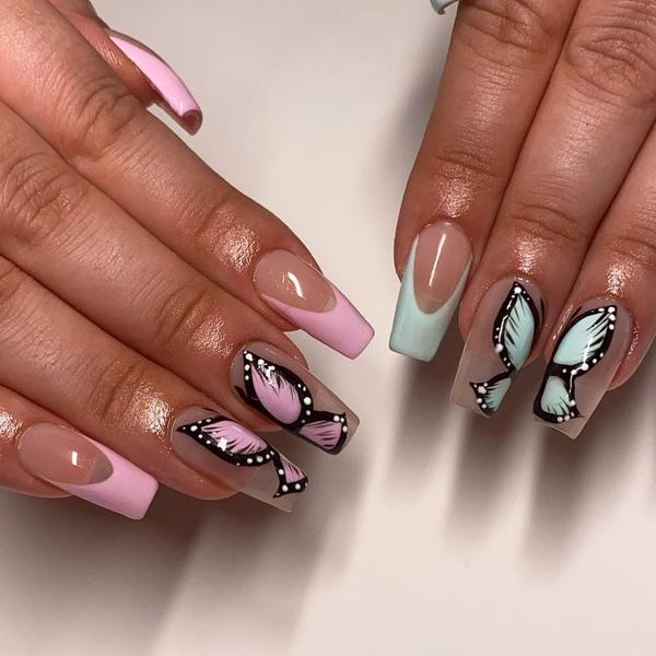 Фото №8 - Маникюр с бабочками— самый креативный и стильный бьюти-тренд этой осени из Инстаграма 🦋