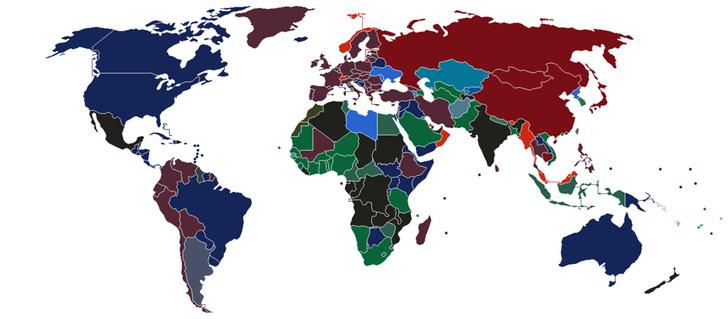 Фото №2 - Карта: цвет паспорта в разных странах мира