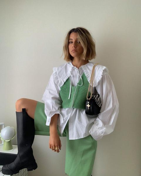 Фото №1 - Как носить color blocking зимой 2021: вдохновляемся луками fashion-инфлюенсеров