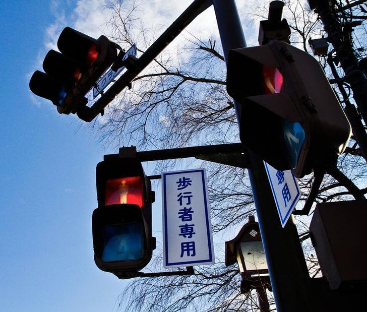 Фото №4 - Почему японцы ходят на синий сигнал светофора