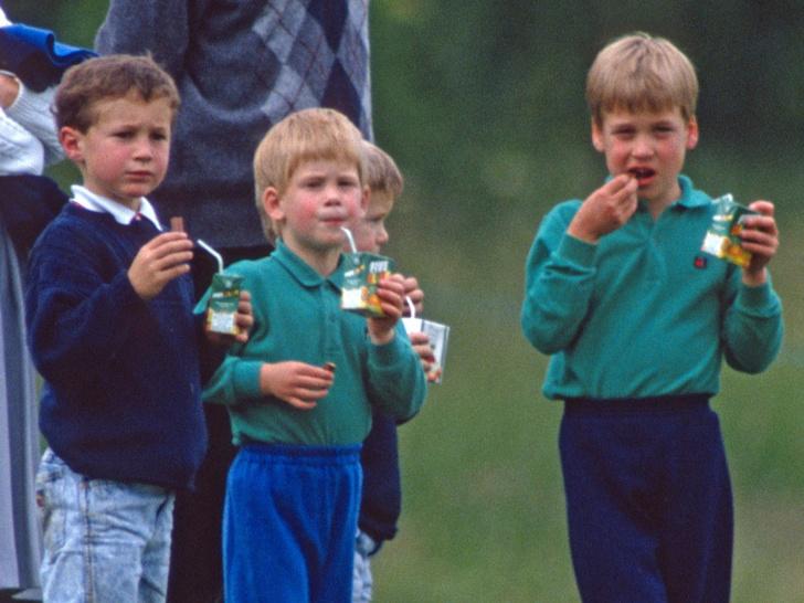 Фото №1 - Необычный выбор: какую еду обожали в детстве Гарри и Уильям (и это вовсе не фастфуд)