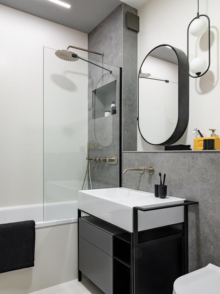 Фото №11 - Квартира 78 м² со стальной мозаикой на кухне