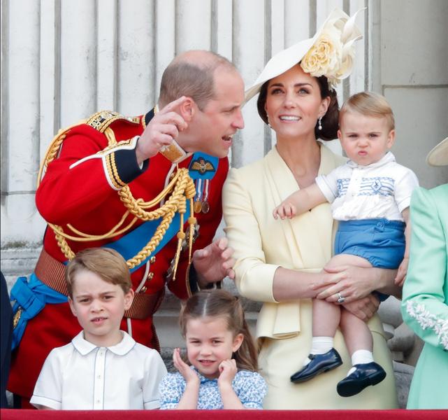 Кейт Миддлтон, принц Уильям, принц Джордж, принцесса Шарлотта