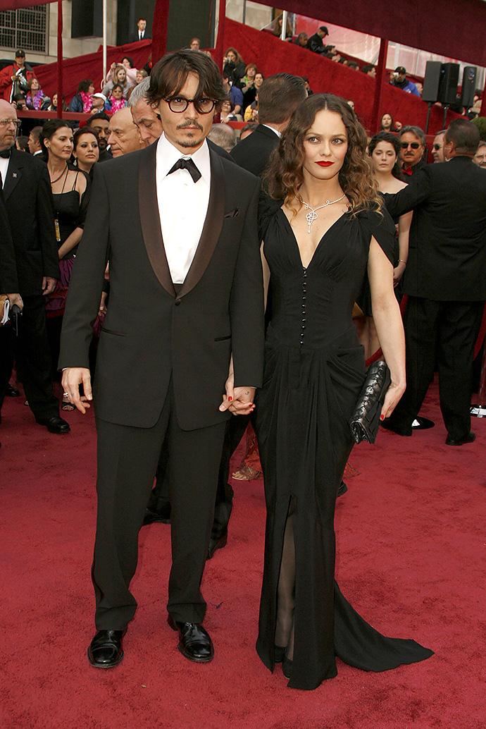 Джонни Депп с Ванессой Паради на церемонии 2013 года