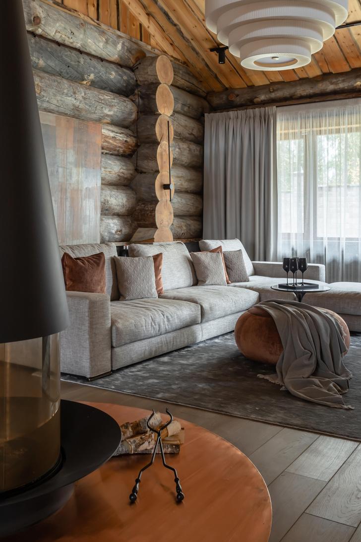 Фото №5 - Деревянная баня с высокотехнологичным дизайном в Подмосковье