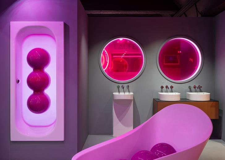 Фото №1 - В розовом свете: новый шоурум Laufen