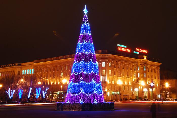 Новый год, елка, Волгоград