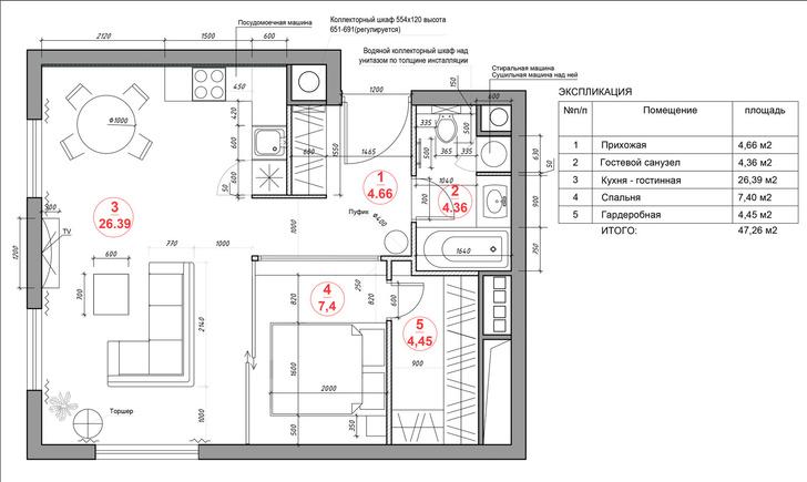 Фото №15 - Маленькая квартира по проекту Ильи Гульянца в Москве