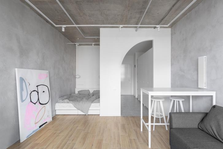 Фото №1 - Монохромная квартира 33 м² в Москве