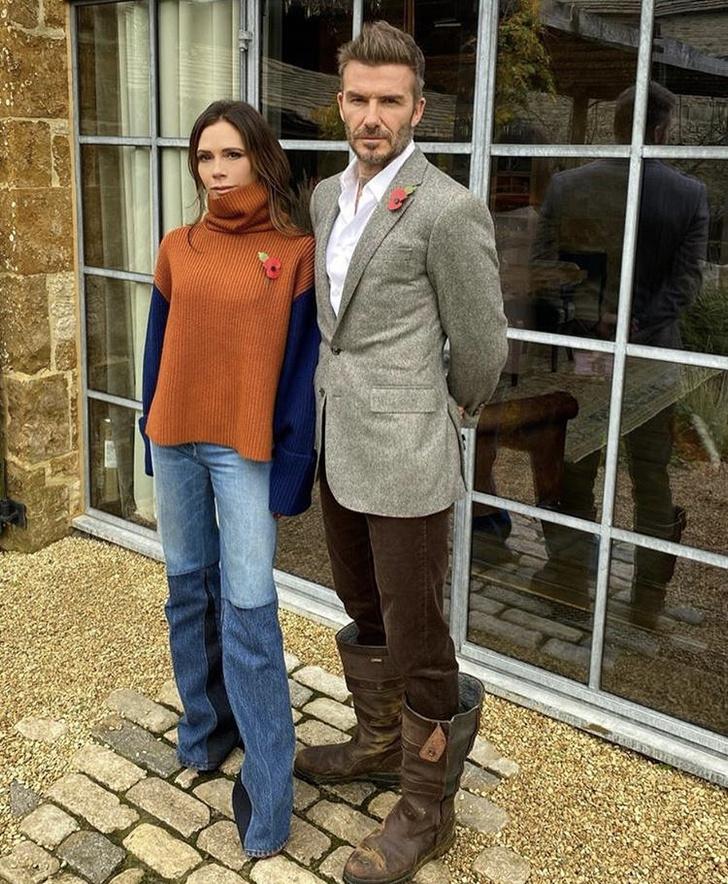Фото №1 - Couple goals: Виктория и Дэвид Бекхэмы показали, как могут выглядеть дачники-миллионеры осенью
