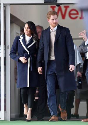 Фото №4 - Их модные Высочества: лучшие парные образы Меган и Гарри