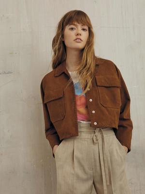 Фото №3 - Платья с воланами и объемные куртки: 15 вещей Claudie Pierlot в стиле бохо