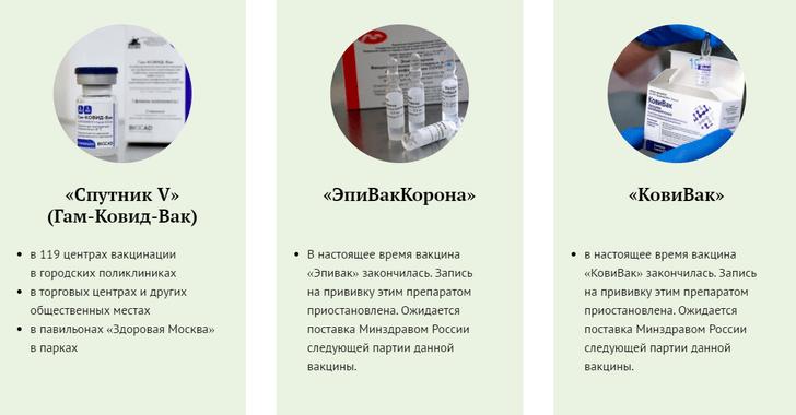 Фото №2 - В Москве закончились вакцины от коронавируса «ЭпиВакКорона» и «КовиВак»