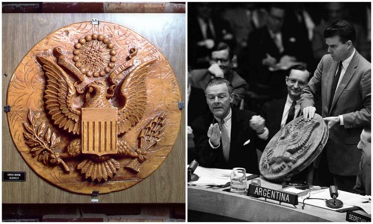 Фото №1 - Как русские семь лет подслушивали американцев в посольстве США с помощью «подарка»