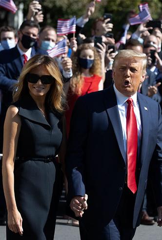 Фото №29 - Большая разница: как менялся стиль Мелании Трамп во время президентских кампаний мужа