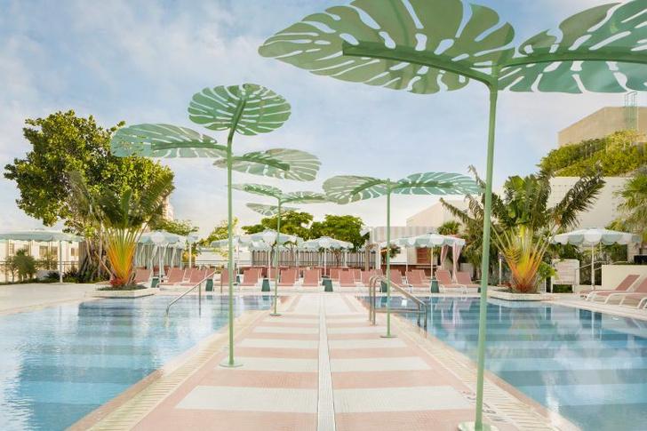 Фото №1 - The Goodtime Hotel: атмосферный отель в Майами по дизайну Кена Фалка