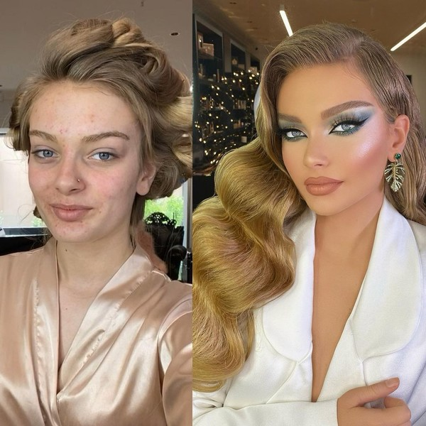 Фото №2 - Как вечерний макияж меняет лицо: 20 реальных фото до и после