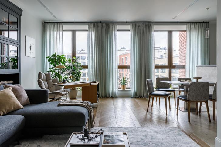 Фото №1 - Светлая квартира с панорамными окнами в Хамовниках