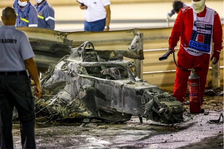 Фото №4 - В огне не горит: французский гонщик F1 выжил в страшной аварии