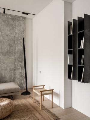 Фото №5 - За бетонной стеной: архитектурная квартира 125 м² в Москве