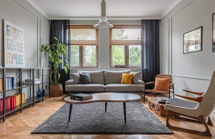 Фото №1 - Квартира с винтажной мебелью для домашних вечеринок
