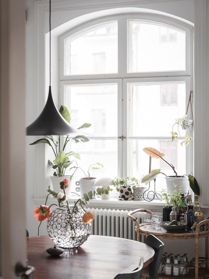 Фото №2 - Уютная скандинавская квартира с микро-спальней в Гетеборге
